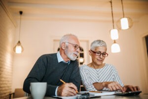Older Couple and DIY Do-It-Yourself Portfolio Management